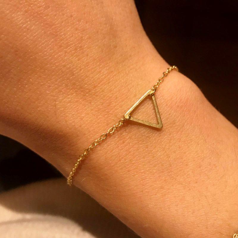 bracelet laiton triangle