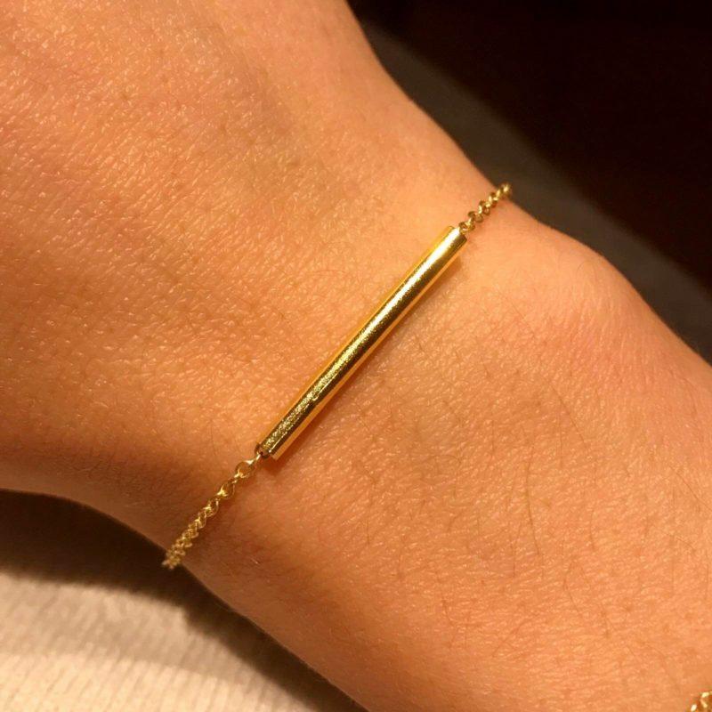 bracelet laiton tube