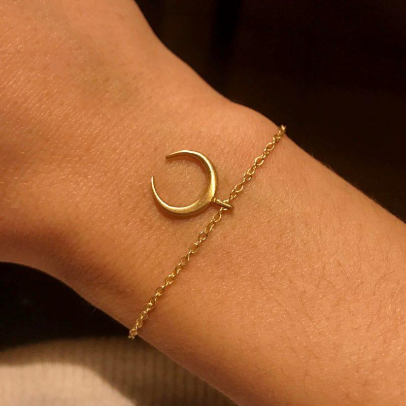 bracelet laiton lune